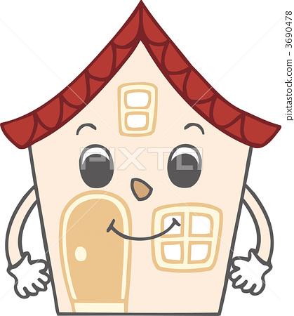 图库插图: 矢量 独立式住宅 房