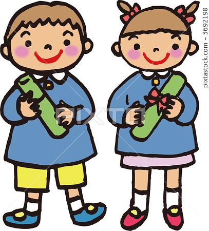 插图素材: 矢量图 读完幼儿园 幼儿园毕业