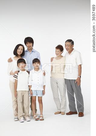 家庭 三代人 人物