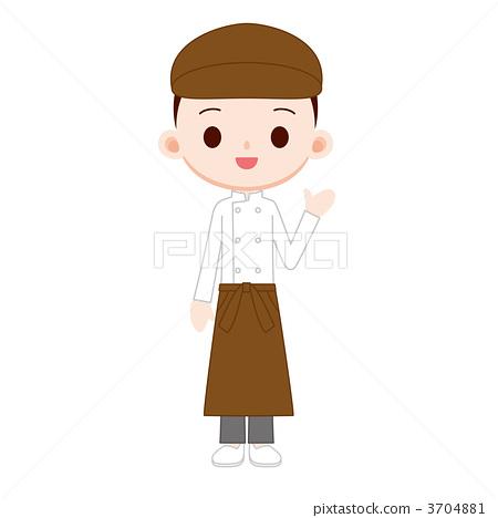职业/上班族 销售人员/客服人员 店员 插图 店员 售货员 兼职工作
