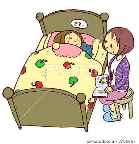 宝宝睡觉卡通手绘
