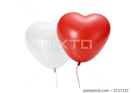 图库照片: 橡胶气球 心形 心