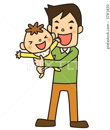 首页 插图 人物 男性 父亲 父亲 爸爸 父亲抚养孩子  *pixta限定素材