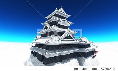 插图素材: 城堡塔楼 天守阁 城堡