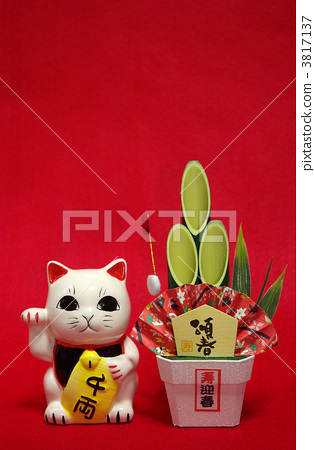 招财猫 新年的圣诞树装饰 新年装饰