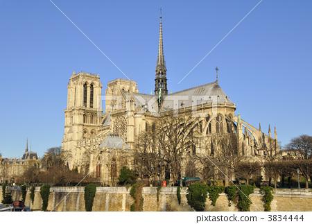 土木 建筑业 巴黎圣母院 圣母院大教堂 庙宇  *pixta限定素材仅在