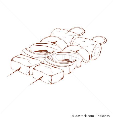 烧烤手绘简笔画