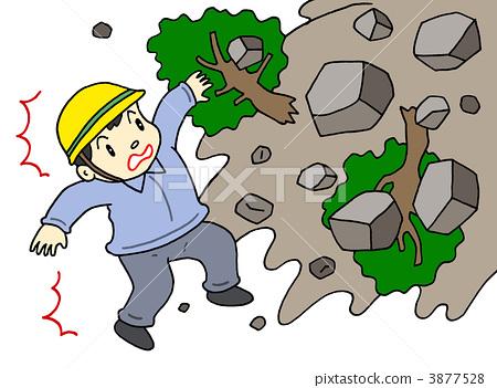 山崩 泥土和岩石崩塌 灾难