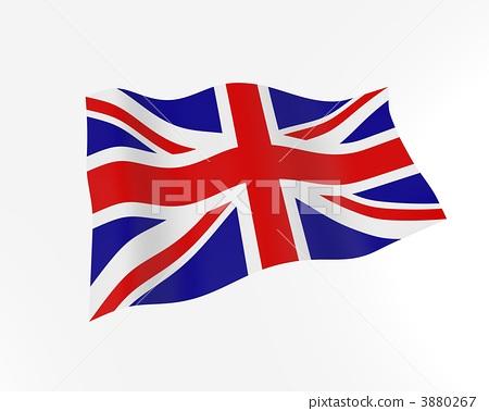 图库插图: 英国国旗 国旗 英国