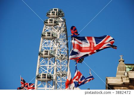 伦敦眼 英国国旗