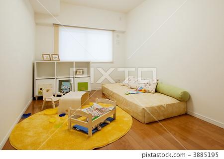 图库照片: 孩子的房间 地板 木地板