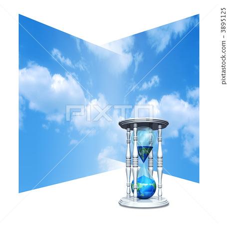 插图素材: 沙漏 时间 蓝天图库插图: 沙漏 时间 蓝天