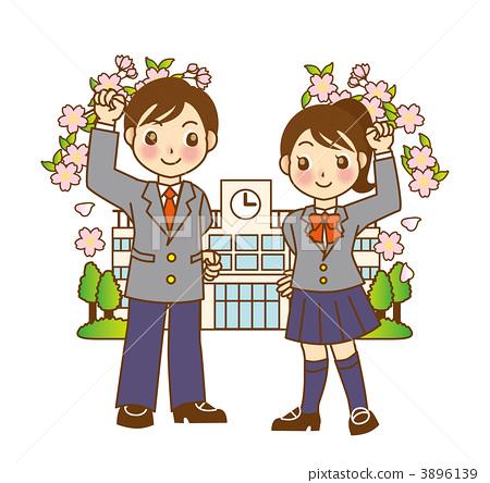 新入学 樱桃树