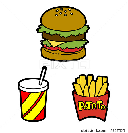 hamburger, fried potato, hamburgers