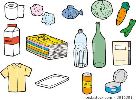图库插图: 垃圾 垃圾分类 插图