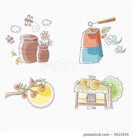 插图素材: 纸灯笼 壶 陶瓮