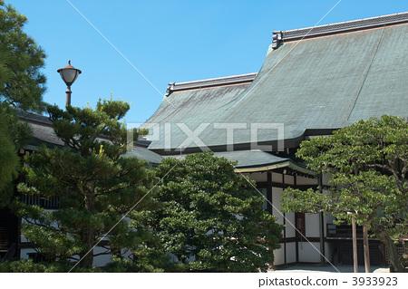 江南水乡房屋建筑倒影摄影图