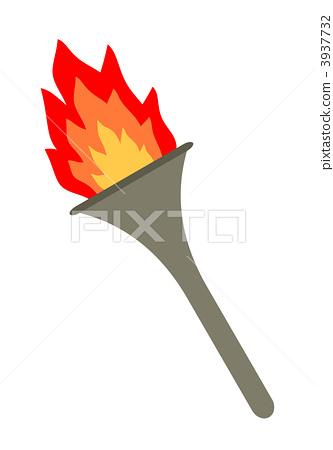 插图素材: 火炬 圣火 火把