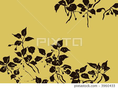图库插图: 树叶 叶子 蔓藤花纹