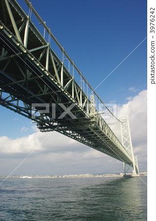 照片素材(图片): 悬索桥 明石海峡大桥 跨海大桥