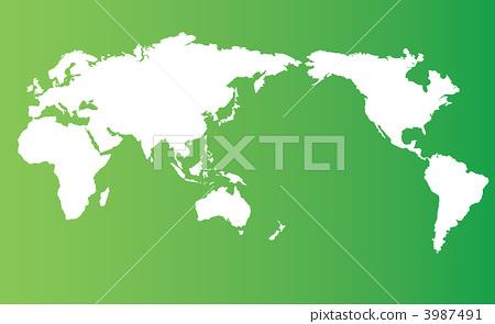 世界地图 绘画插图 描述-图库插图