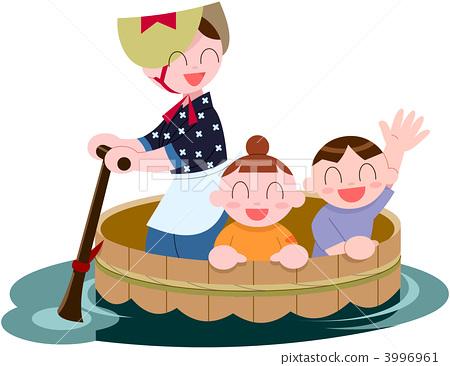儿童 船夫 孩子