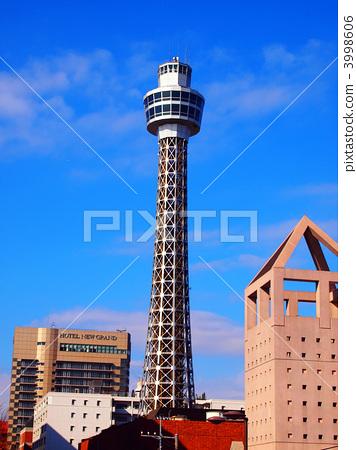 图库照片: 横滨海洋塔 风景 建筑