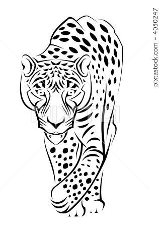 可爱的豹子简笔画