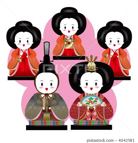 人物 男女 日本人 插图 女儿节 桃子 材料 首页 插图 人物 男女 日本图片