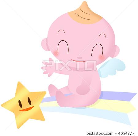 天使 动物宝宝 女婴