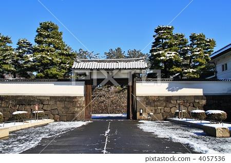 足球 守门员 皇宫的雪,江户城堡,sakuradamon  *pixta限定素材仅在