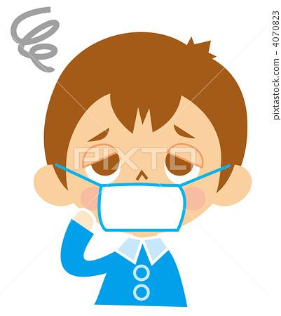 插图素材: 预防感冒 生病的 病