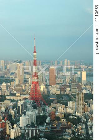 东京塔 东京铁塔 浅蓝