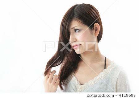 头发 长头发 长发图片