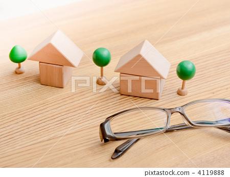 积木玩具 房屋