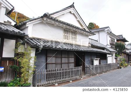 日式房屋 竹原 风景