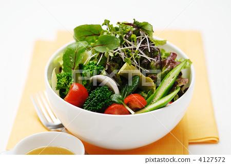 照片素材(图片): 蔬菜沙拉 蔬菜色拉 沙拉