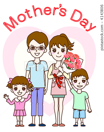 母亲节 人物 父母和小孩