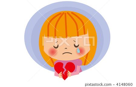 哭泣的脸庞 孩子-图库插图