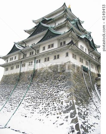 照片素材(图片): 金海豚城堡 名古屋城堡 城堡塔楼