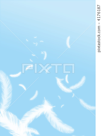 文字_记号 记号_记号 翅膀 羽毛 光炮 白色的羽毛  *pixta限定素材仅