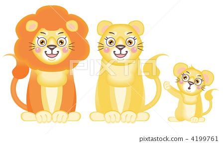 动物 母狮 动物宝宝