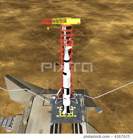 插图: 火箭 小盒 计算机图形图像