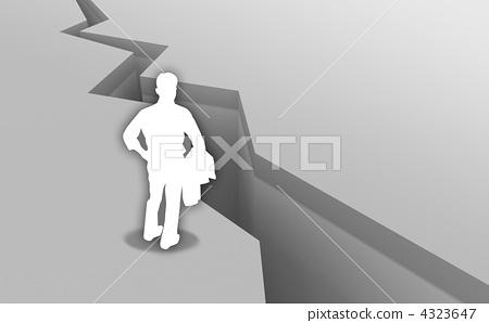 裂缝 地面裂缝 三维-插图素材 [4323647] - pixta图库