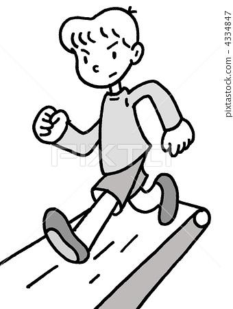 跑步手绘简笔画