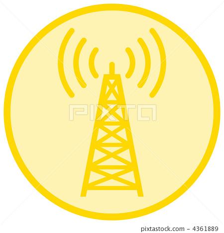 无线电塔 stock 插图