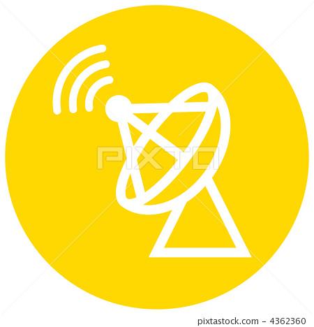 无线发射塔矢量图