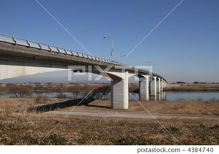 图库照片: 埼玉大桥的风景