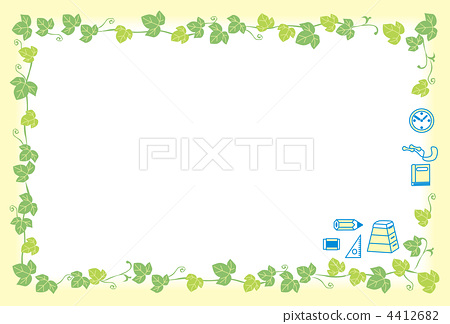 图库插图: 绿叶 常春藤 嫩叶