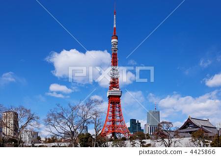 东京塔 东京铁塔 芝公园